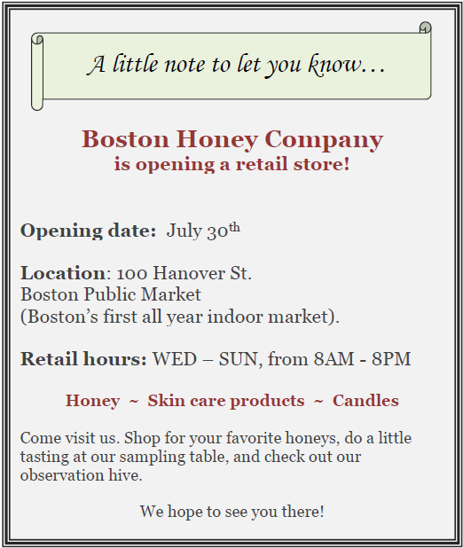 Boston Honey Company at Boston Public Market